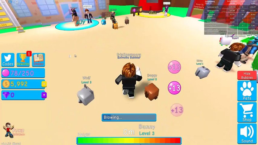 All Codes For Petsworld Roblox 5 Codes Bubble Gum Simulator Roblox Video Dailymotion