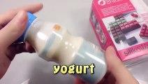 DIY Yogurt Milk Icecream and Learn Colors Slime Combine Glitter Clay Toys