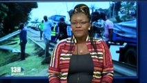 RTG - Accident de circulation au quartier plein ciel belle peinture de Libreville
