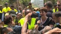 Annick Girardin tente d'apaiser les Gilets Jaunes à la Réunion
