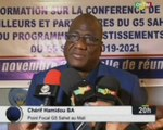 ORTM/Séance d'information sur la conférence de coordination des bailleurs et partenaires du G5 Sahel