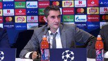 Reaction after FC Barcelona beat PSV 2-1 to ensure they'll top Group B in the UCL
