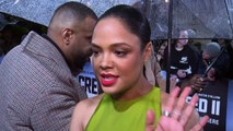 Tessa Thompson's Grandma forced her to watch Creed II!