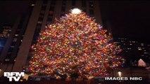 L'immense sapin de Noël du Rockefeller Center à New York s'est illuminé