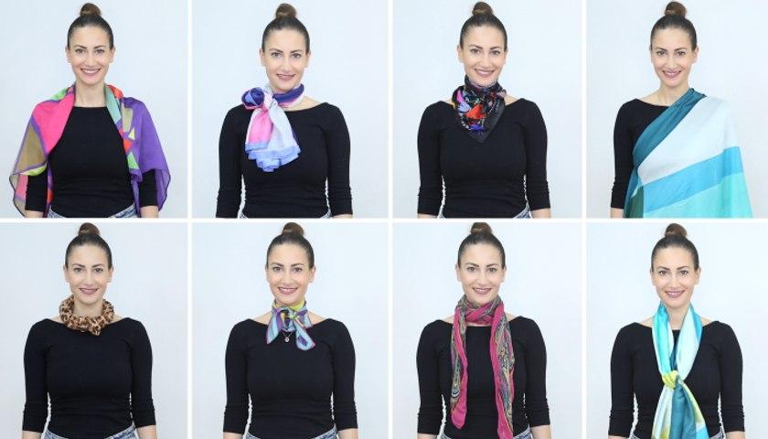 8 طرق مبتكرة لعقد الوشاح