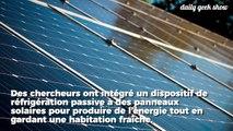Des panneaux solaires qui renvoient la chaleur dans l'espace