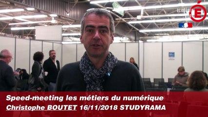 Speed-meeting métiers du numérique - Christophe BOUTET