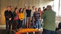 Franck Dubosc a rencontré les lecteurs du Progrès