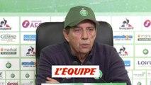 Gasset «Depuis le match de Nîmes, je n'ai pas parlé» - Foot - L1 - ASSE
