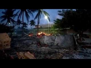 Pescadores têm materiais de pesca queimados em Porto de Pedras