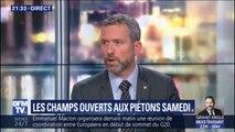 """Champs-Élysées: """"il y aura une fouille systématique des sacs et si on trouve un gilet jaune on empêchera les gens de rentrer"""" explique Fabien Gouttefarde"""