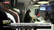Gilets jaunes : Colère et inquiétude des commerçants de Montargis qui s'inquiètent de la survie de leurs commerces - Regardez