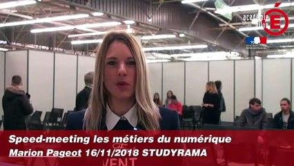 Speed-meeting métiers du numérique - Marion PAGEOT