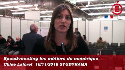 Speed-meeting métiers du numérique - Chloé LAFORET