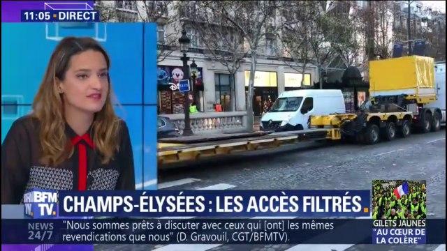 Gilets jaunes: comment fonctionnera le filtrage sur les Champs-Elysées samedi ?