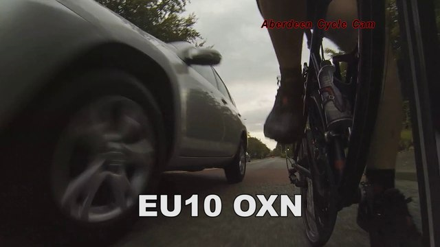 EU10OXN - Another Close Pass Police Aberdeen chose not not charge the driver - Queen's Road
