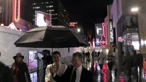 Bellamy Young Almost Takes A Nasty Tumble In The Rain!