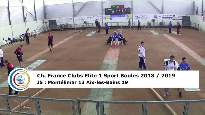 Troisième tour, tir rapide en double, France Club Elite 1, J5, Montélimar contre Aix-les-Bains,  saison 2018/2019