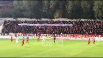 """Ora News - Derbi i kryeqytetit, Ultras Guerrils """"thumbojnë"""" Tirona Fanatiks"""