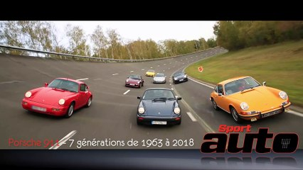 Porsche 911 (1963 à 2018) : 7 générations en vidéo