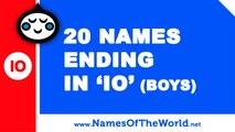 20 boy names ending in IO - the best baby names - www.namesoftheworld.net