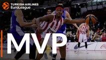 Turkish Airlines EuroLeague Regular Season Round 10 MVP: Zach LeDay, Olympiacos Piraeus