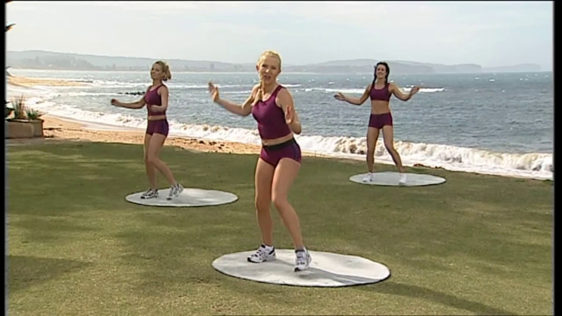 Aerobics Oz Style Series 12A Body Exercise Routines Wendi Carroll Leads Gaby Kahn Kelly Russell SAMP