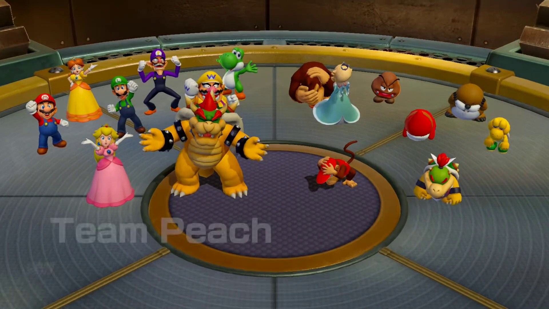 Super Mario Party Free Play - Peach v Bowser v Diddy Kong v Jr. Bowser Gameplay