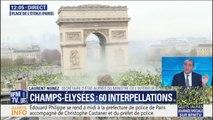 """""""On a récupéré des marteaux."""" Laurent Nunez évoque l'interpellation d'individus """"extrêmement violents"""" aux abords des Champs-Élysées"""