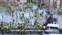 """Champs-Élysées: affrontements entre policiers et """"gilets jaunes"""""""