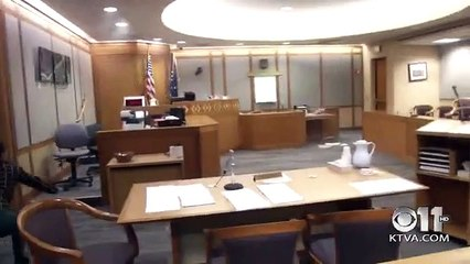 Courtroom rattles during earthquake in Alaska