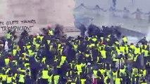 Violentos enfrentamientos en París en protestas contra Macron