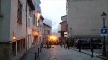 Trévoux : un appartement en feu au centre-ville