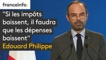 """""""Si les impôts baissent, il faudra que les dépenses baissent"""" Edouard Philippe annonce une concertation sur """"le niveau des services publics"""""""