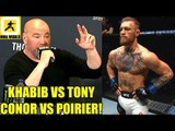 Conor McGregor fights Dustin Poirier next and Khabib fights Tony winners fight eachother?,Colby