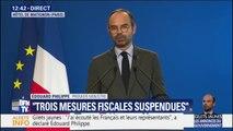"""""""Les impôts des Français seront utilisés pour réparer."""" Édouard Philippe met en garde contre les dégradations lors des manifestations de gilets jaunes"""