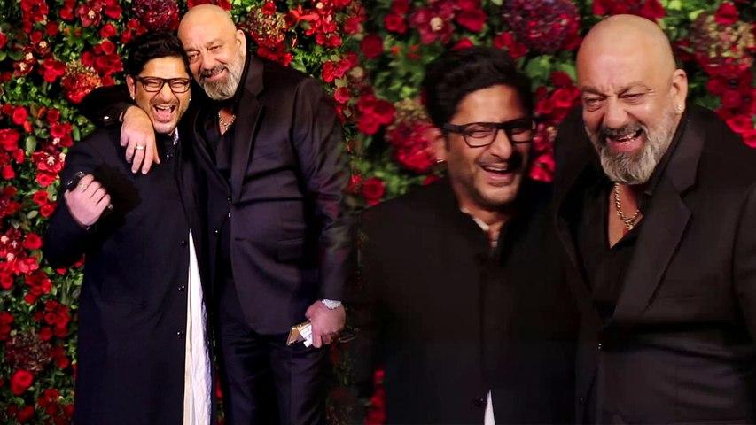 Deepika और Ranveer के Reception में Sanjay Dutt और Arshad Warsi ऐसे मिले | Boldsky