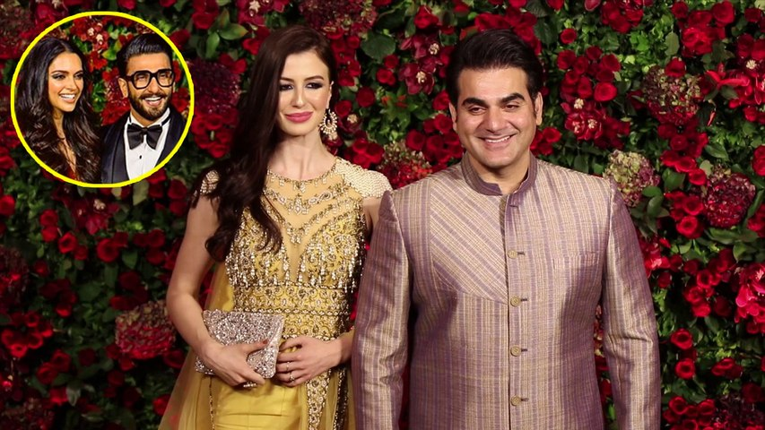 Deepika और Ranveer के Reception में Arbaaz Khan GF Giorgia Andriani संग पहुंचे | Boldsky