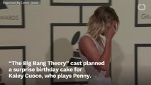 'The Big Bang Theory's Jim Parsons Spoils Kaley Cuoco's Surprise Birthday Cake