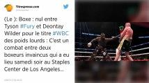 Boxe. Deontay Wilder conserve son titre en arrachant le nul face à Tyson Fury