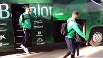 Betis-Real Sociedad: Llegada del Real Betis al Benito Villamarín