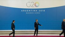 Awkward moment Trump deserts Macri on stage