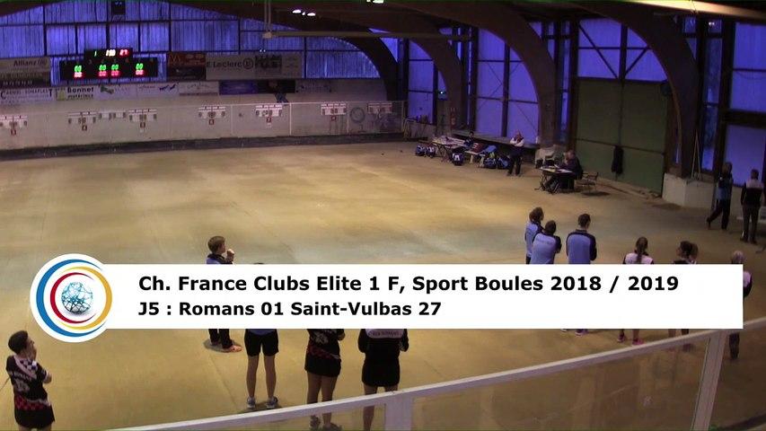 Quatrième tour, France Club Elite 1 F, J5,  Romans contre Saint-Vulbas, saison 2018/2019