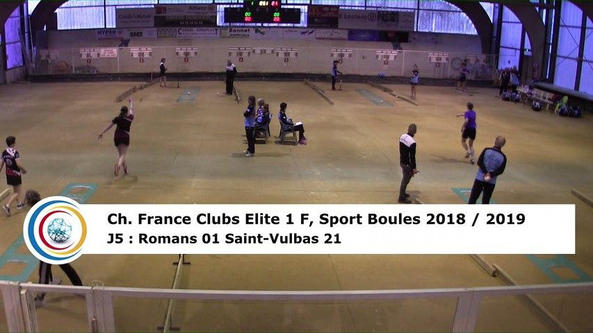 Troisième tour, tir progressif, France Club Elite 1 F, J5,  Romans contre Saint-Vulbas, saison 2018/2019