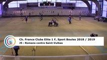 Premier tour, tir progressif, France Club Elite 1 F, J5,  Romans contre Saint-Vulbas, saison 2018/2019