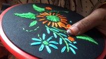 অসাধারণ রুমাল ডিসাইন || রান,ডাল,হেরিংবোন,লেইসি ডেইসি সেলাই দিয়ে কিভাবে রুমালে ডিসাইন তুলবেন ||