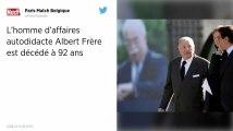 Décès du milliardaire belge Albert Frère, président d'honneur du groupe GBL.