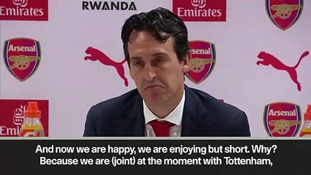 Eng Sub: Emery happy with 'gift' to Arsenal supports after 4-2 North London Derby win over Spurs