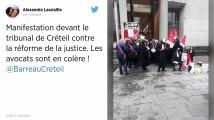 Réforme de la justice. Des avocats «en colère» bloquent le tribunal de Créteil.