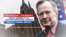 Four days of memorials planned for George H.W. Bush